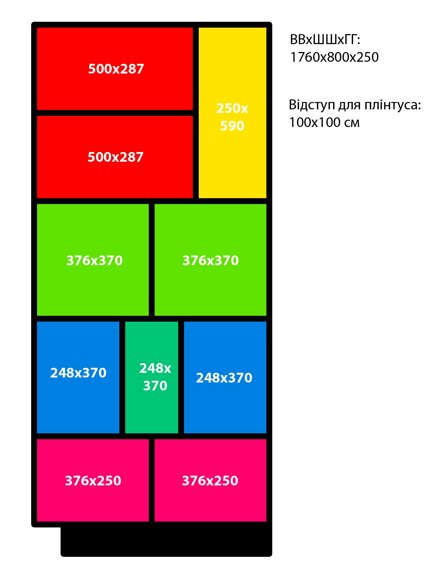Схема стелажа із ДСП