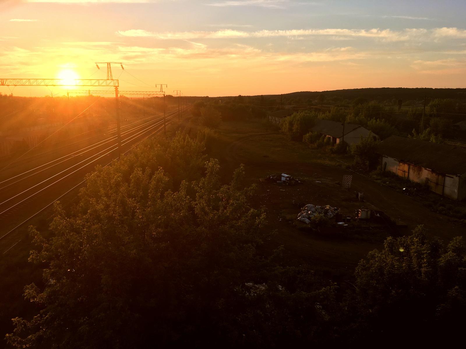 Захід сонця в Олександрівці