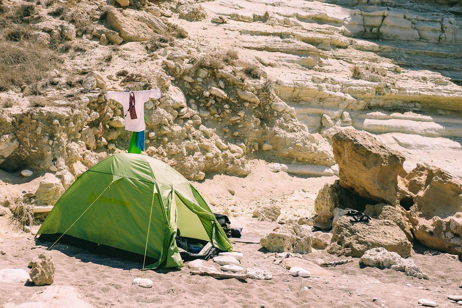 Намет на пляжі на Кіпрі