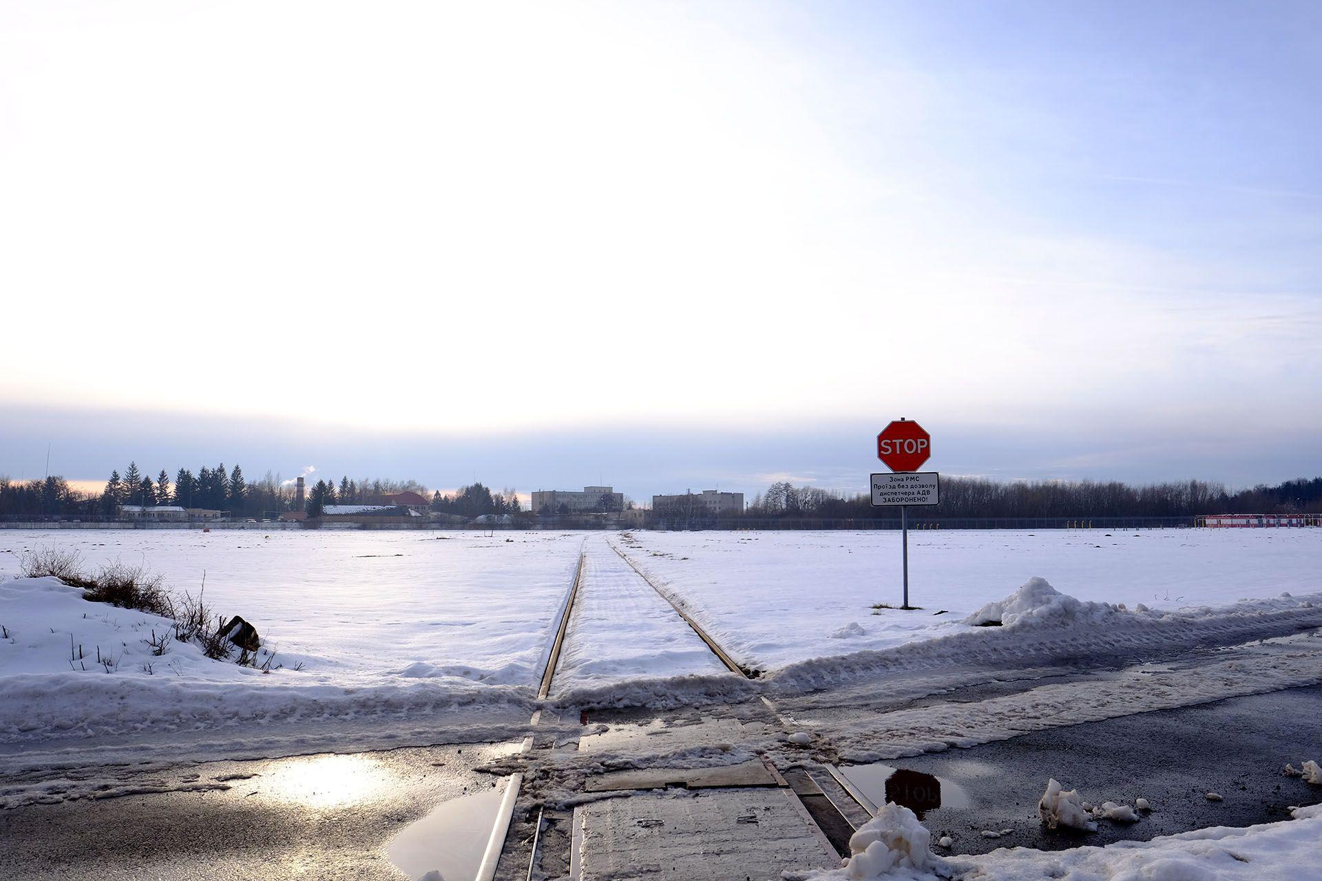 Залізнична колія в аеропорту Львів