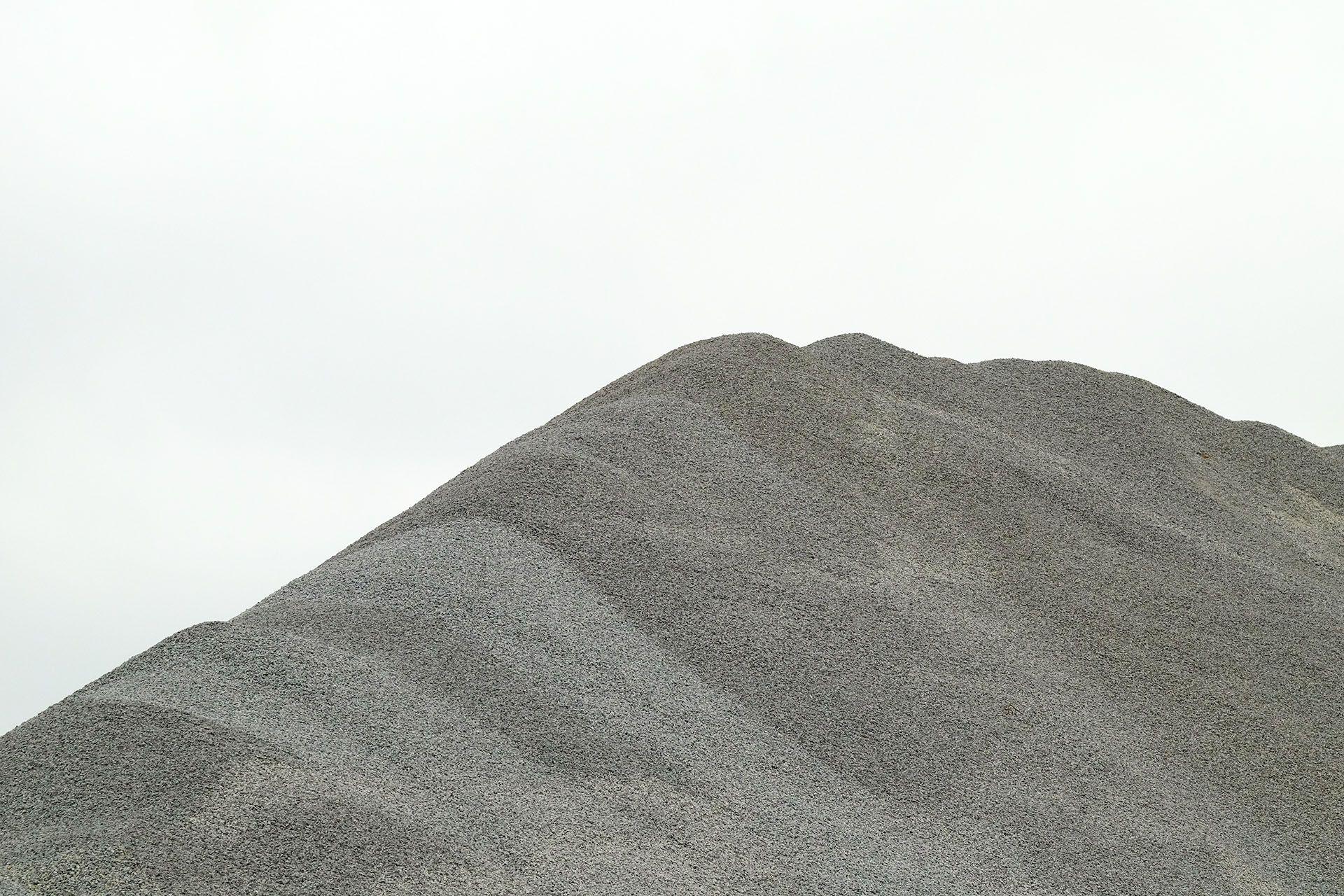 Гора щебню