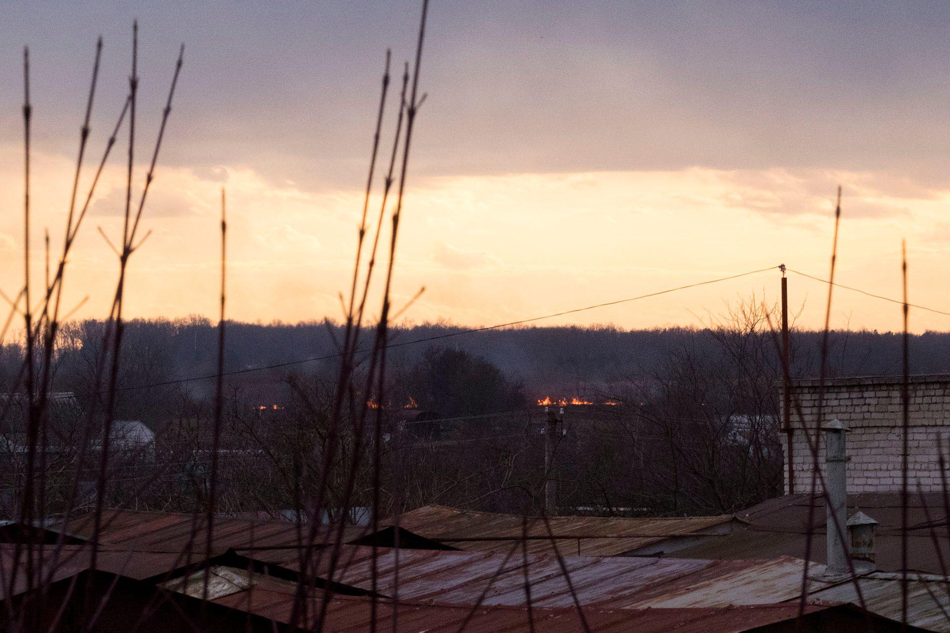 Польова пожежа біля Львова