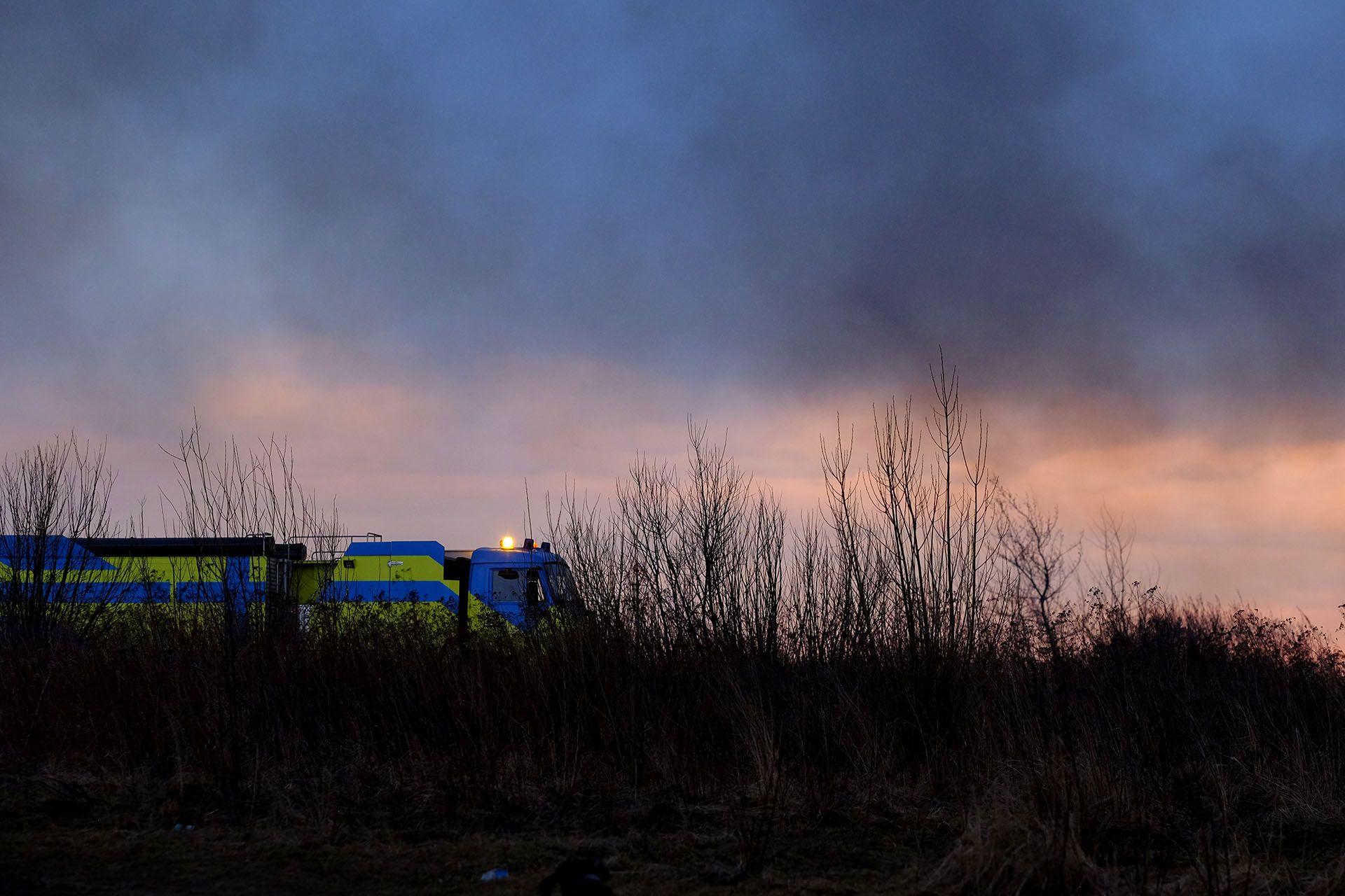 Пожежа біля аеропорту Львів