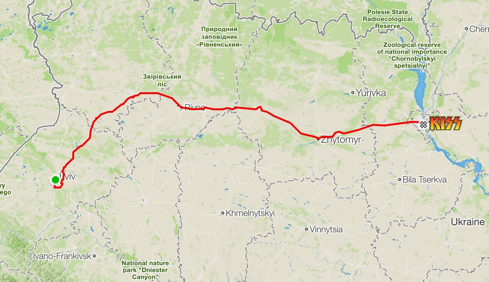 Маршрут Львів—Київ на велосипеді