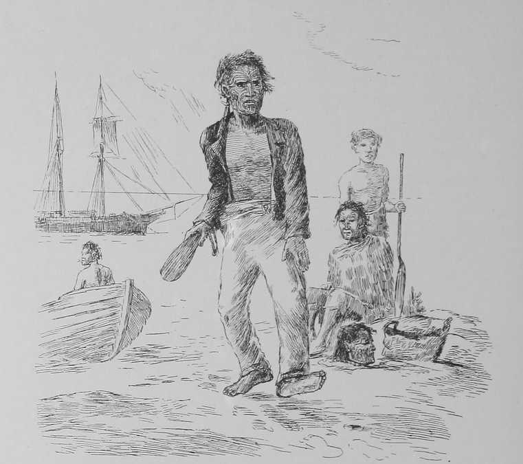 «Торгуючись за голову, на березі, вождь піднімає ціну» — ескіз Г. Г. Роблі