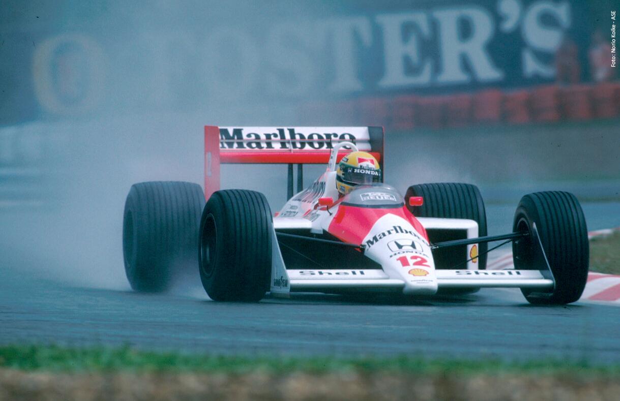 The dominant McLaren MP4/4. Driven by Ayrton Senna in 1988.